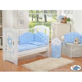 parure de lit b b chic bleu linge de lit b b. Black Bedroom Furniture Sets. Home Design Ideas