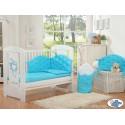 Parure de lit bébé chic turquoise