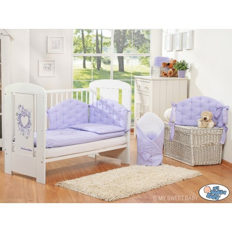 Parure de lit bébé chic violet