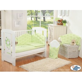 Parure de lit bébé chic vert