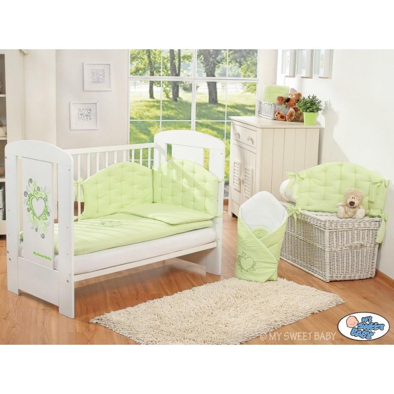 parure de lit b b chic vert linge de lit b b. Black Bedroom Furniture Sets. Home Design Ideas
