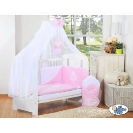 Lit et parure de lit bébé complète Glamour Rose