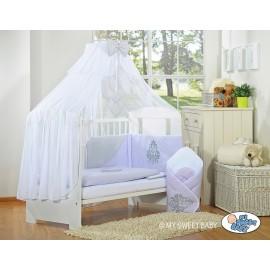 Lit et parure de lit bébé complète Glamour Violet