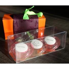Lot de 3 sucettes personnalisables cadeau de naissance fille