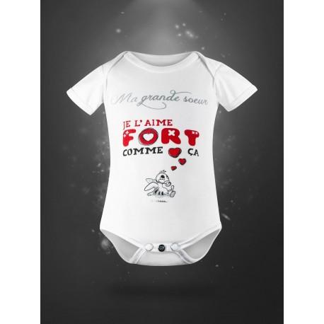 Body pour bébé en coton bio - ma grande soeur
