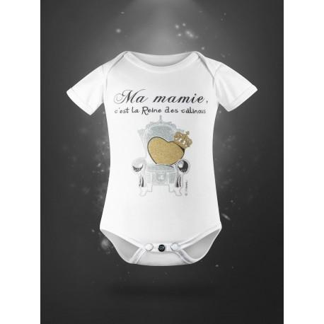 Body pour bébé en coton bio - ma mamie