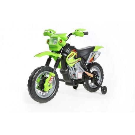 motocross électrique pour enfant 6V verte