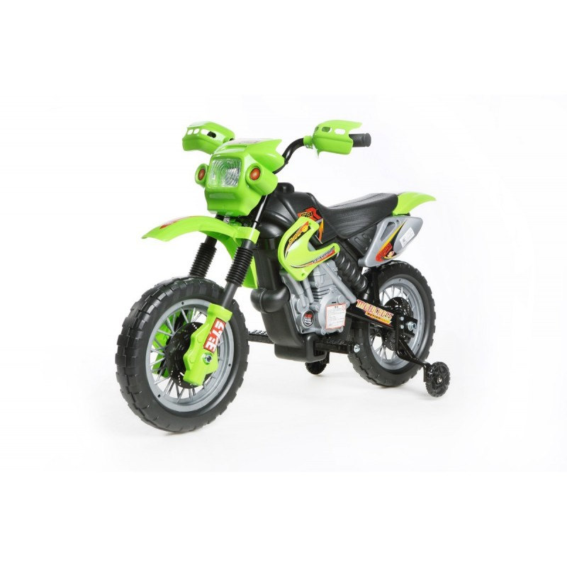 motocross lectrique verte moto lectrique 6v pour enfant. Black Bedroom Furniture Sets. Home Design Ideas