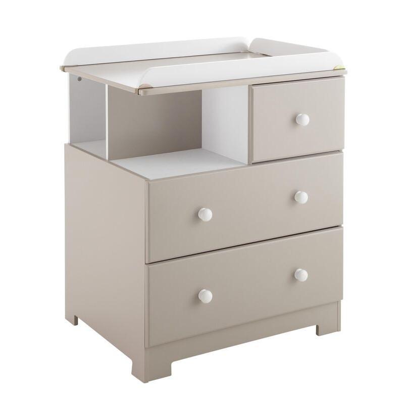 commode langer bali taupe et blanche poyet motte. Black Bedroom Furniture Sets. Home Design Ideas