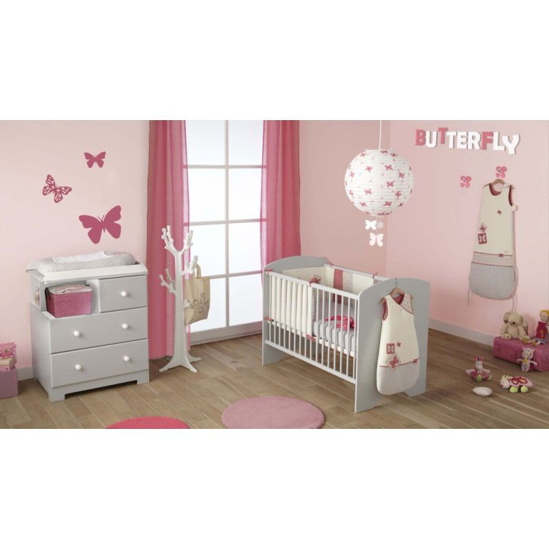Lit barreaux pour b b sweety poyet motte for Commode chambre parentale