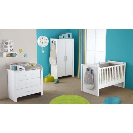 Lit à barreaux pour bébé blanc Goa