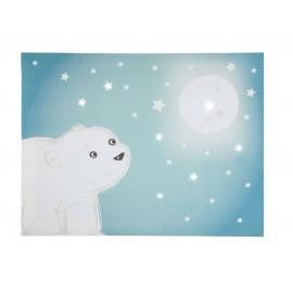 toile lumineuse scintillante Flocon l'ourson