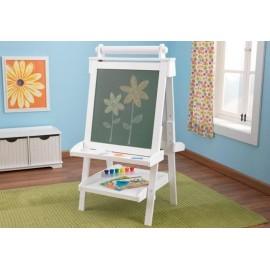 Chevalet ajustable blanc de luxe en bois - kidkraft
