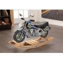 Moto de police à bascule en bois