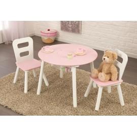 Ensemble table pour enfant ronde et ses 2 chaises drôle et amusant