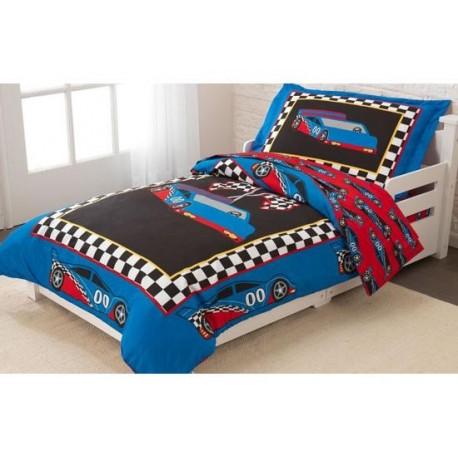 parure de lit pour enfant voiture de course