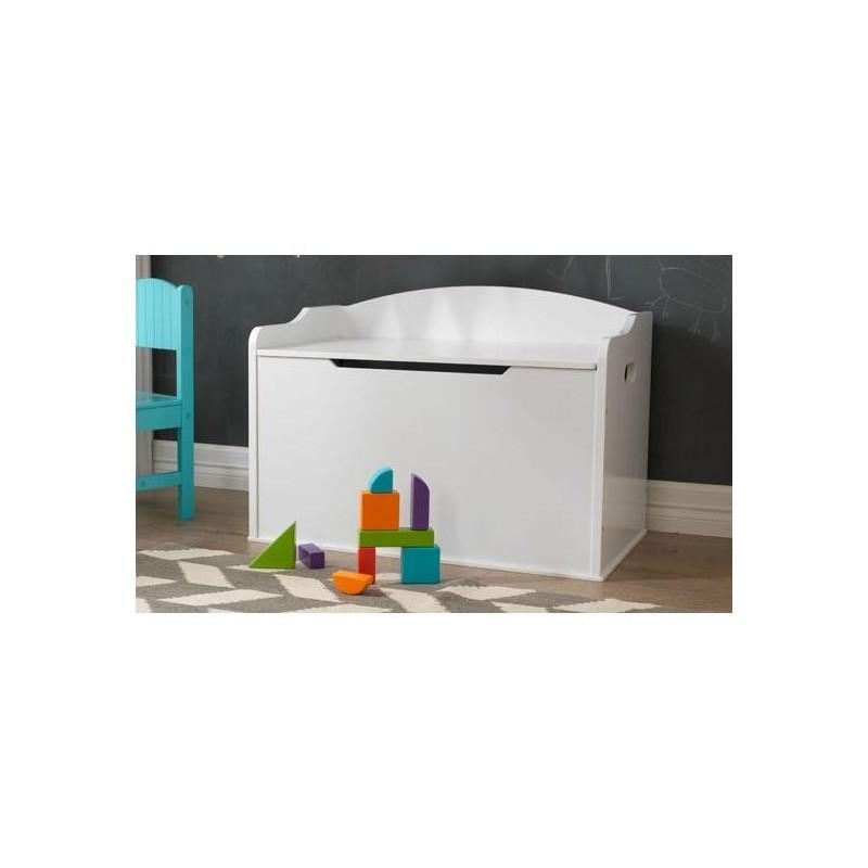 coffre jouet austin blanc. Black Bedroom Furniture Sets. Home Design Ideas