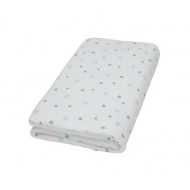 Drap housse blanc imprimé Flocon l'ourson