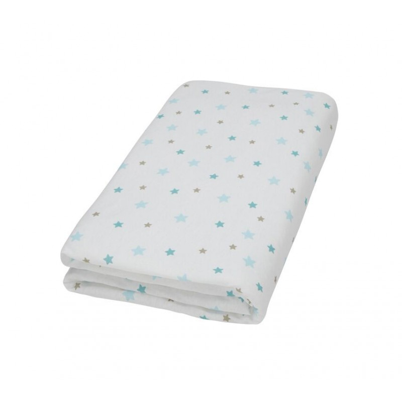 Drap housse blanc imprim flocon l 39 ourson for Drap housse blanc