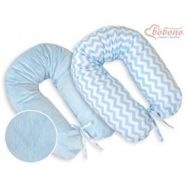 Coussin d'allaitement double face éclair bleu