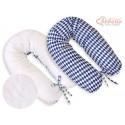 Coussin d'allaitement double face arlequin bleu marine
