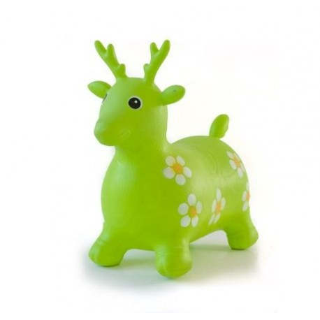 Cerf sauteur vert gonflable