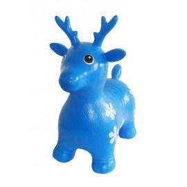 Cerf sauteur bleu gonflable