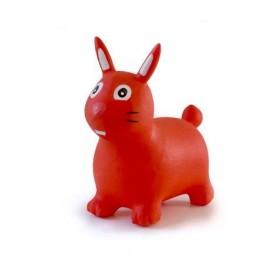 Lapin sauteur rouge gonflable
