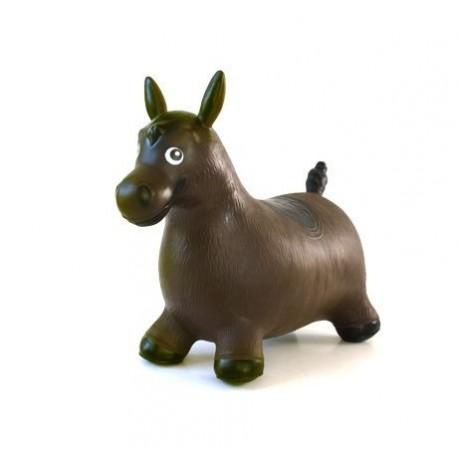 Cheval sauteur marron gonflable