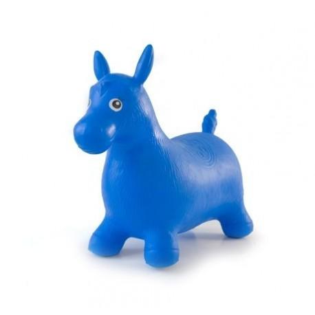 Cheval sauteur bleu gonflable