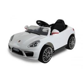 Berline Style Cayenne 12 V blanche - voiture électrique pour enfant