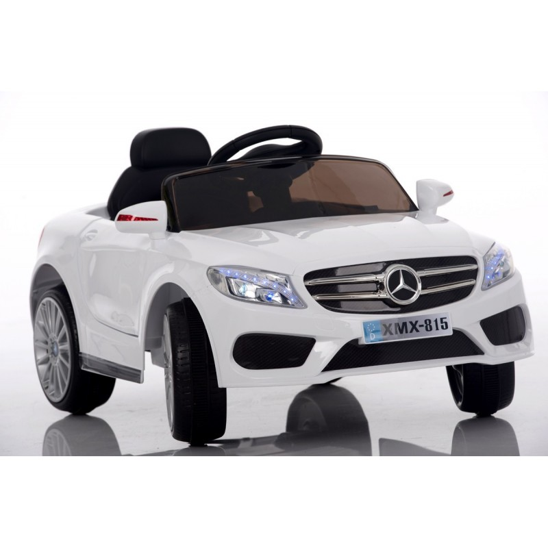 roadster style sl 12v blanche voiture lectrique pour enfant. Black Bedroom Furniture Sets. Home Design Ideas