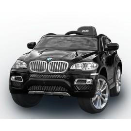 voiture électrique pour enfant BMW X6 de luxe noir, siège cuir