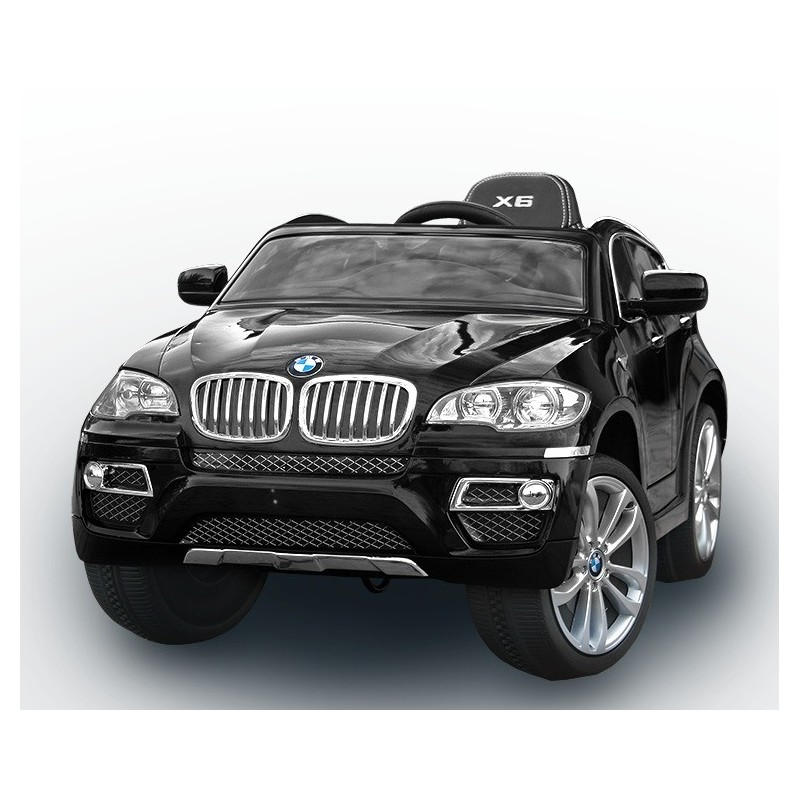 voiture lectrique pour enfant bmw x6 luxe peinture noir si ge cuir. Black Bedroom Furniture Sets. Home Design Ideas