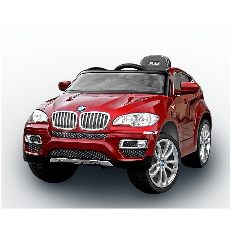 voiture lectrique pour enfant bmw x6 luxe peinture rouge si ge cuir. Black Bedroom Furniture Sets. Home Design Ideas