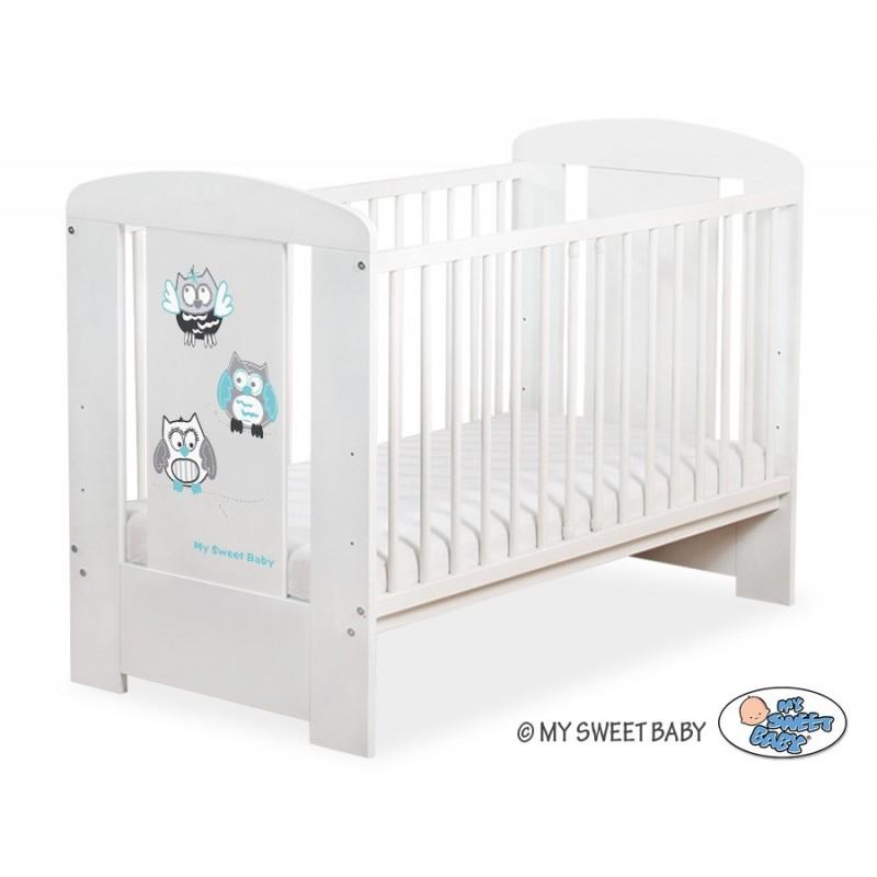 lit pour b b motif hibou gris et turquoise achat vente lit enfant. Black Bedroom Furniture Sets. Home Design Ideas