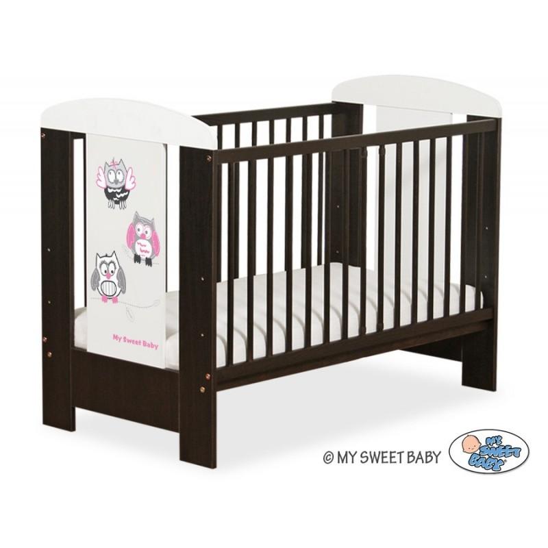 lit pour b b motif hibou gris et rose achat vente lit enfant. Black Bedroom Furniture Sets. Home Design Ideas