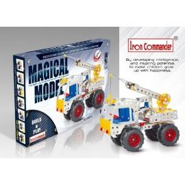 Camion Grue en métal pour enfants - 245 pièces à assembler
