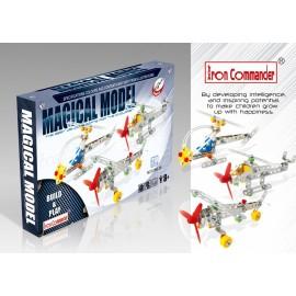 3 modèles réduits d'avion en métal pour enfants - 210 pièces à assembler