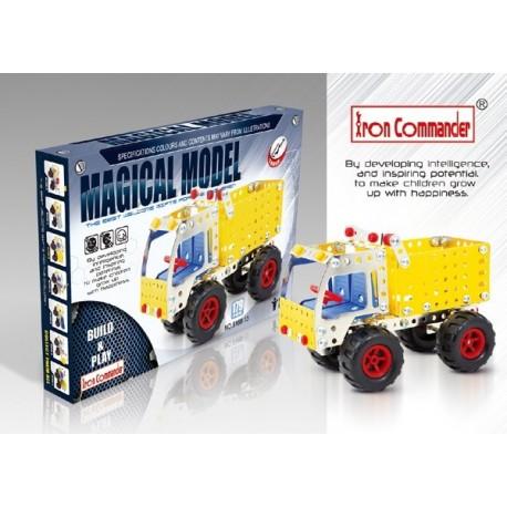 Camion benne en métal pour enfants - 179 pièces à assembler