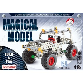 Grande Jeep en métal pour enfants - 251 pièces à assembler