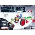 Tracteur avec remorque en métal pour enfants - 131 pièces à assembler