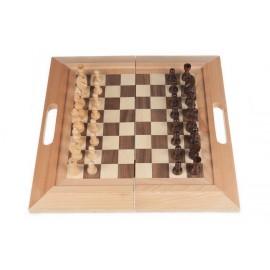 Jeu d'échec traditionnel en bois pour enfant
