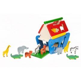 Grande arche de Noé en bois pour enfant