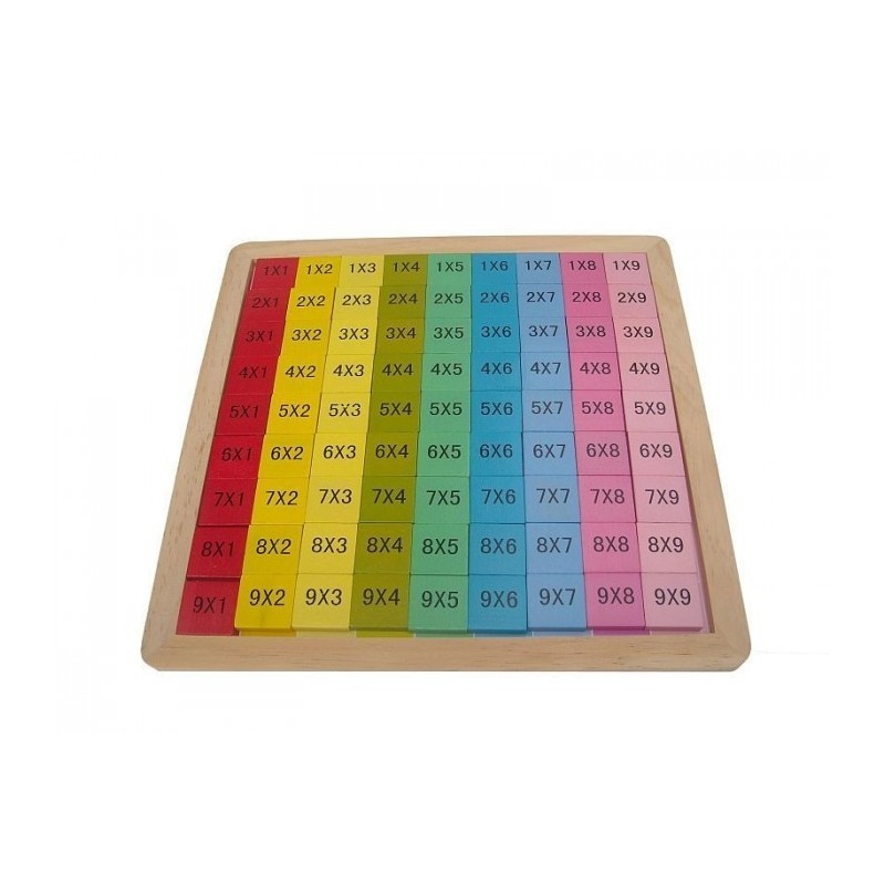 Table de multiplication en bois pour enfant for Multiplication pour enfant