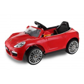 Berline Style Cayenne 12 V rouge- voiture électrique pour enfant