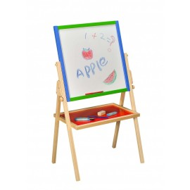Chevalet tableau et étagère à dessin en bois
