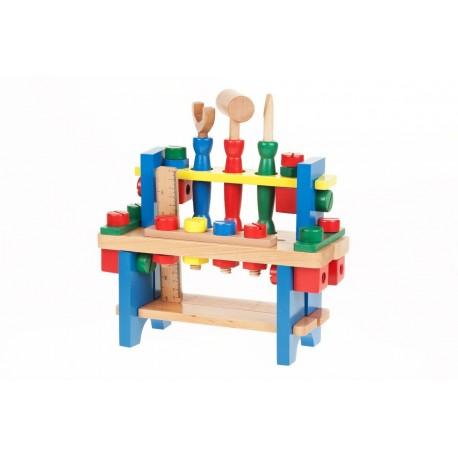 Etagère à outils en bois pour enfant