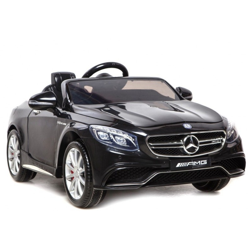 voiture lectrique pour enfant mercedes s63 amg noire. Black Bedroom Furniture Sets. Home Design Ideas