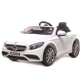 Voiture électrique pour enfant Mercedes Benz S63 AMG blanche